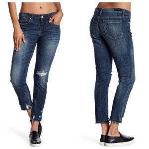 Blank NYC Decon Fray Hem Girlfriend Jeans